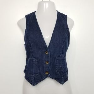 Madewell for Shopbop Dark Wash Denim Vest